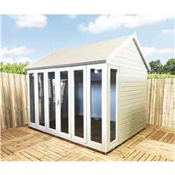 INSTALLED 10 x 8 (2.99m x 2.39m) - Premier Wooden Summerhouse - Bifold Doors - 12mm T&G Walls - Floor - Roof - INSTALLATION INCLUDED