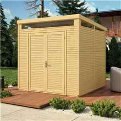 8 x 8 Pent Security Shed - Double Doors - 19mm Tongue and Groove Walls & Floor