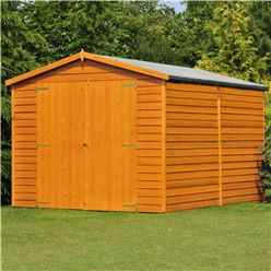 12 X 8 (3.59m X 2.39m) - Windowless Dip Treated Overlap - Apex Garden Shed - Double Doors - 11mm Solid Osb Floor - Core (bs)