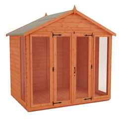8 x 10 Full Pane Summerhouse (12mm Tongue and Groove Floor and Apex Roof)