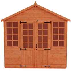 8 x 10 Classic Summerhouse (12mm Tongue and Groove Floor and Apex Roof)