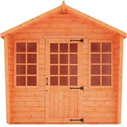 8 x 10 Chalet Summerhouse (12mm Tongue and Groove Floor and Apex Roof)