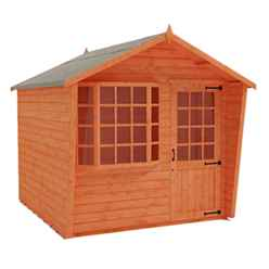 8 x 10 Bay Window Summerhouse (12mm Tongue and Groove Floor and Apex Roof)