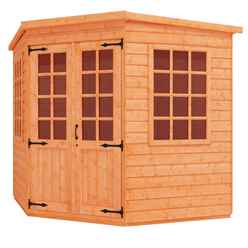 8 x 8 Corner Summerhouse (12mm Tongue and Groove Floor and Pent Roof)