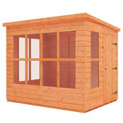 8 x 6 Pent Summerhouse (12mm Tongue and Groove Floor and Roof)