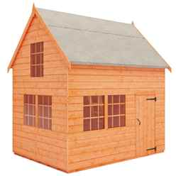 6 x 8 Cottage Playhouse (12mm Tongue and Groove Floor and Roof)