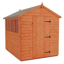 8 x 8 Tongue and Groove Apex Shed With 4 Windows and Single Door (12mm Tongue and Groove Floor and Roof)