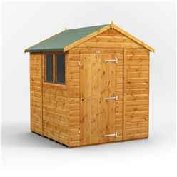 6 x 6 Premium Tongue and Groove Apex Shed - Single Door - 2 Windows - 12mm Tongue and Groove Floor and Roof