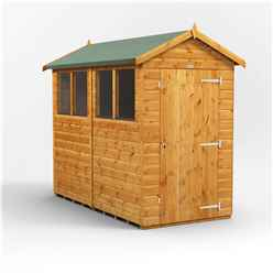 8 X 4 Premium Tongue And Groove Apex Shed - Single Door - 4 Windows - 12mm Tongue And Groove Floor And Roof