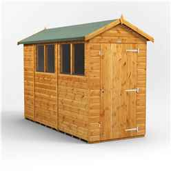 10 X 4 Premium Tongue And Groove Apex Shed - Single Door - 4 Windows - 12mm Tongue And Groove Floor And Roof