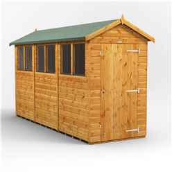 12 X 4 Premium Tongue And Groove Apex Shed - Single Door - 6 Windows - 12mm Tongue And Groove Floor And Roof