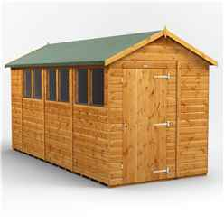 14 x 6 Premium Tongue and Groove Apex Shed - Single Door - 6 Windows - 12mm Tongue and Groove Floor and Roof