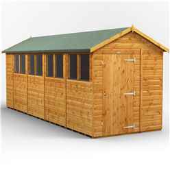 18 x 6 Premium Tongue and Groove Apex Shed - Single Door - 8 Windows - 12mm Tongue and Groove Floor and Roof