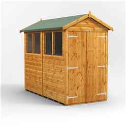 8 x 4 Premium Tongue and Groove Apex Shed - Double Doors - 4 Windows - 12mm Tongue and Groove Floor and Roof