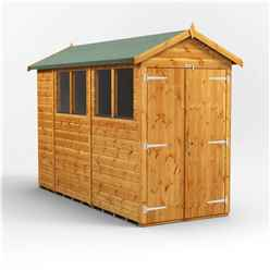 10 X 4 Premium Tongue And Groove Apex Shed - Double Doors - 4 Windows - 12mm Tongue And Groove Floor And Roof
