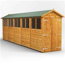 20 x 4 Premium Tongue and Groove Apex Shed - Double Doors - 10 Windows - 12mm Tongue and Groove Floor and Roof