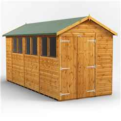 14 X 6 Premium Tongue And Groove Apex Shed - Double Doors - 6 Windows - 12mm Tongue And Groove Floor And Roof