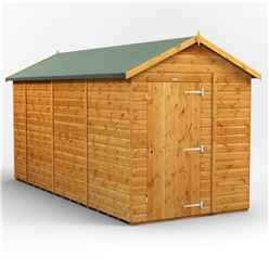 14 X 6 Premium Tongue And Groove Apex Shed - Single Door - Windowless - 12mm Tongue And Groove Floor And Roof