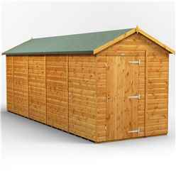 18 x 6 Premium Tongue and Groove Apex Shed - Single Door - Windowless - 12mm Tongue and Groove Floor and Roof