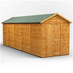 20 x 6 Premium Tongue and Groove Apex Shed - Single Door - Windowless - 12mm Tongue and Groove Floor and Roof
