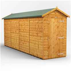 16 x 4 Premium Tongue and Groove Apex Shed - Single Door - Windowless - 12mm Tongue and Groove Floor and Roof