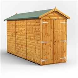 12 x 4 Premium Tongue and Groove Apex Shed - Double Doors - Windowless - 12mm Tongue and Groove Floor and Roof
