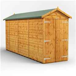 14 X 4 Premium Tongue And Groove Apex Shed - Double Doors - Windowless - 12mm Tongue And Groove Floor And Roof