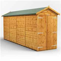 16 x 4 Premium Tongue and Groove Apex Shed - Double Doors - Windowless - 12mm Tongue and Groove Floor and Roof