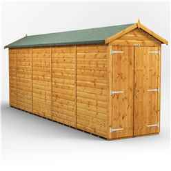 18 X 4 Premium Tongue And Groove Apex Shed - Double Doors - Windowless - 12mm Tongue And Groove Floor And Roof