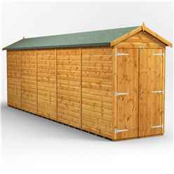 20 X 4 Premium Tongue And Groove Apex Shed - Double Doors - Windowless - 12mm Tongue And Groove Floor And Roof