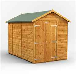 10 X 6 Premium Tongue And Groove Apex Shed - Double Doors - Windowless - 12mm Tongue And Groove Floor And Roof
