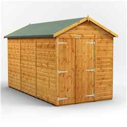 12 x 6 Premium Tongue and Groove Apex Shed - Double Doors - Windowless - 12mm Tongue and Groove Floor and Roof