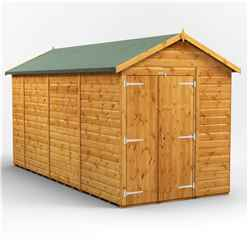 14 X 6 Premium Tongue And Groove Apex Shed - Double Doors - Windowless - 12mm Tongue And Groove Floor And Roof