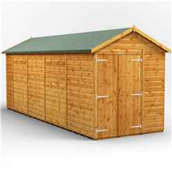 18 X 6 Premium Tongue And Groove Apex Shed - Double Doors - Windowless - 12mm Tongue And Groove Floor And Roof