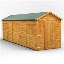 20 X 6 Premium Tongue And Groove Apex Shed - Double Doors - Windowless - 12mm Tongue And Groove Floor And Roof