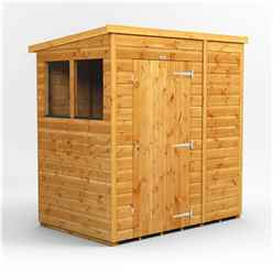 6 x 4 Premium Tongue and Groove Pent Shed - Single Door - 2 Windows - 12mm Tongue and Groove Floor and Roof