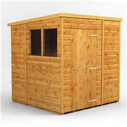 6 X 6 Premium Tongue And Groove Pent Shed - Single Door - 2 Windows - 12mm Tongue And Groove Floor And Roof