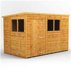 10 X 6 Premium Tongue And Groove Pent Shed - Single Door - 4 Windows - 12mm Tongue And Groove Floor And Roof