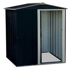 OOS - BACK MAY 2021 - 5 X 4 Value Apex Metal Shed - Anthracite Grey (1.62m X 1.22m)