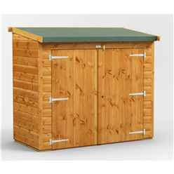 6 x 3 Premium Tongue and Groove Reverse Pent Bike Shed - 12mm Tongue and Groove Floor and Roof