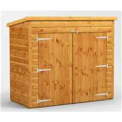 6 X 3 Premium Tongue And Groove Pent Bike Shed - 12mm Tongue And Groove Floor And Roof
