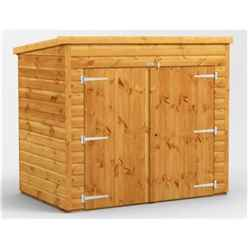 6 X 4 Premium Tongue And Groove Pent Bike Shed - 12mm Tongue And Groove Floor And Roof