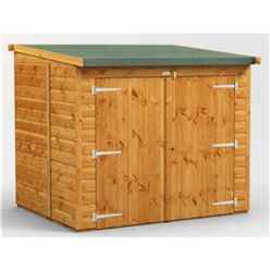 6 x 5 Premium Tongue and Groove Reverse Pent Bike Shed - 12mm Tongue and Groove Floor and Roof