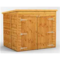 6 x 5 Premium Tongue and Groove Pent Bike Shed - 12mm Tongue and Groove Floor and Roof