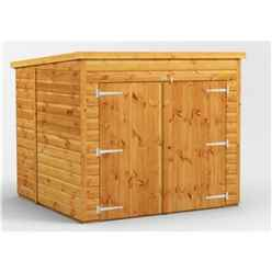 6 x 6 Premium Tongue and Groove Pent Bike Shed - 12mm Tongue and Groove Floor and Roof