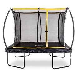 PRE ORDER - OUT OF STOCK 8ft x 12ft Elite Rectangular Trampoline Including a Enclosure Package and FREE Ladder