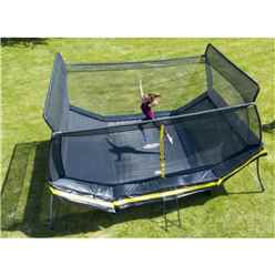 INSTALLED 12ft x 17ft Elite Bounce Area Trampoline with Enclosure Package + FREE Ladder