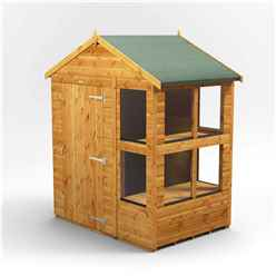 6 x 4 Premium Tongue and Groove Potting Shed - Single Door - 8 Windows - 12mm Tongue and Groove Floor and Roof