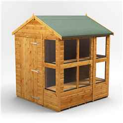 6 x 6 Premium Tongue and Groove Apex Potting Shed - Single Door - 10 Windows - 12mm Tongue and Groove Floor and Roof