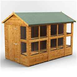 10 X 6 Premium Tongue And Groove Apex Potting Shed - Single Door - 14 Windows - 12mm Tongue And Groove Floor And Roof